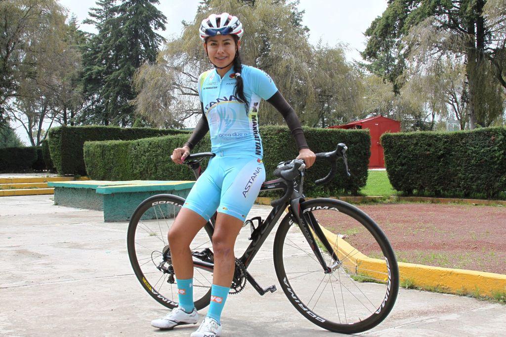 Ciclista mexicana Carolina Rodríguez, con ruta en Río 2016