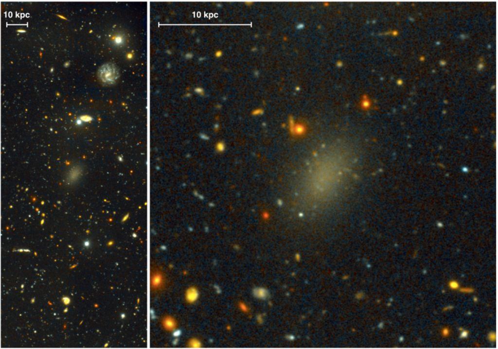 Descubren galaxia conformada casi por completo de materia oscura