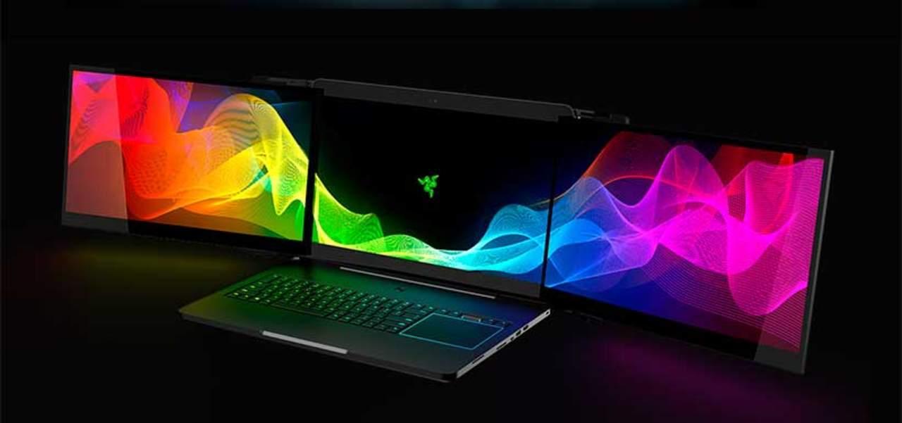 Laptop de tres pantallas, una de las novedades en CES 2017