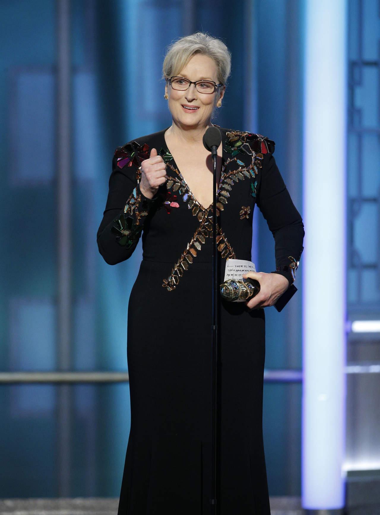Apoya prensa de Hollywood a Meryl Streep ante Trump