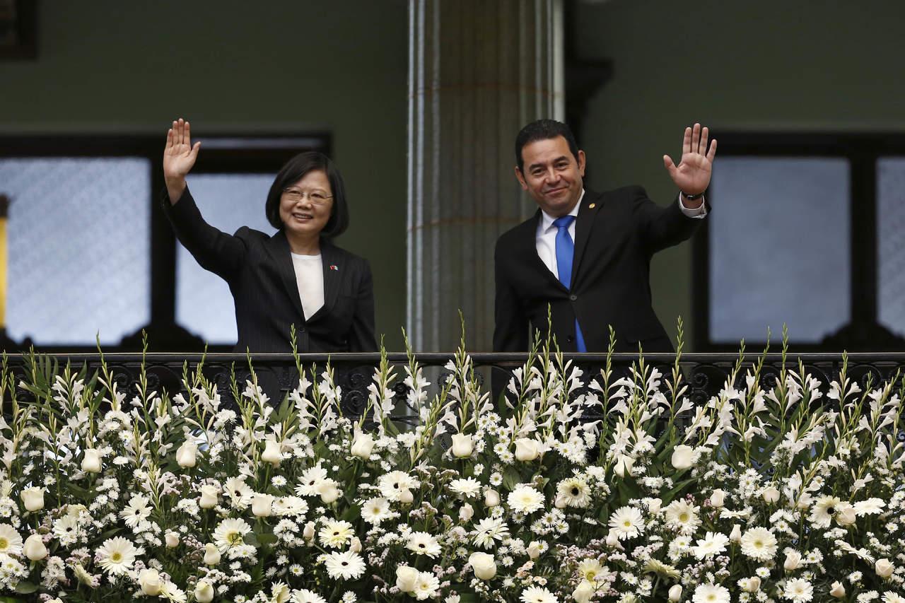 Presidenta de Taiwán visita Guatemala