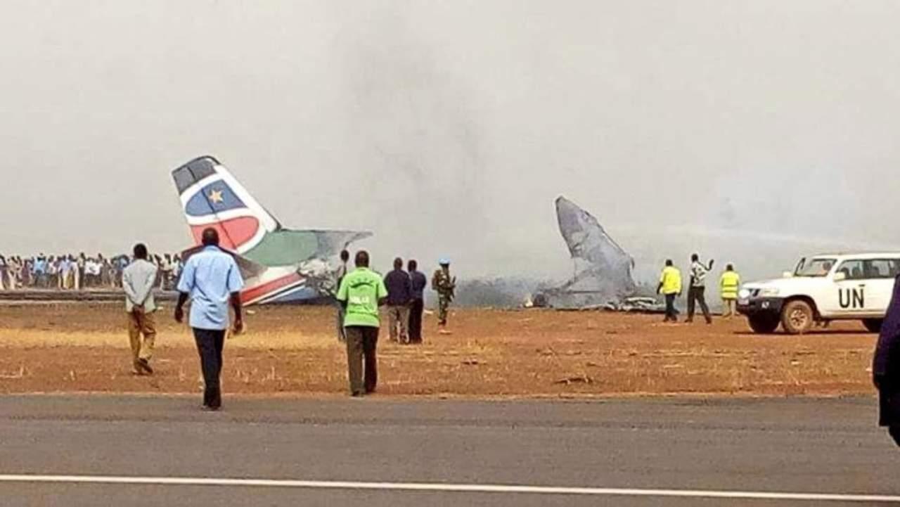 Se estrella avión con 44 personas en Sudán del Sur