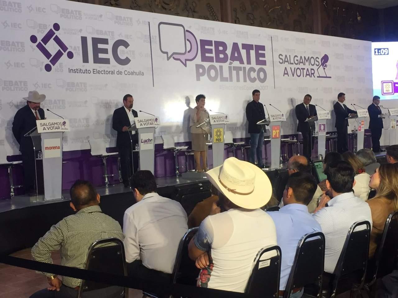 Debaten candidatos a la gubernatura de Coahuila