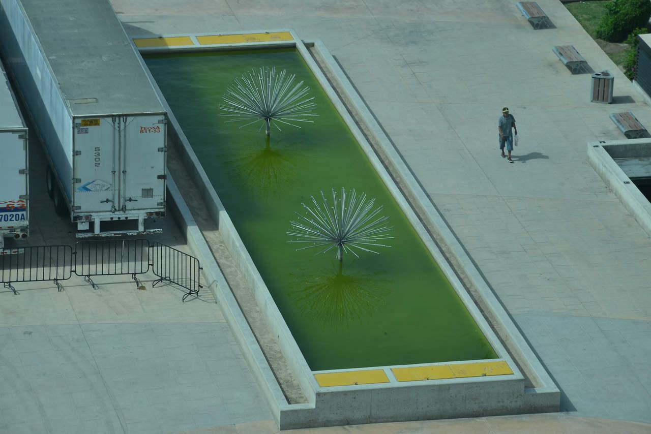 Agua verde en las fuentes