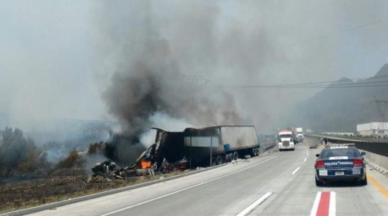 Se registra choque en carretera Saltillo-Monterrey; un muerto