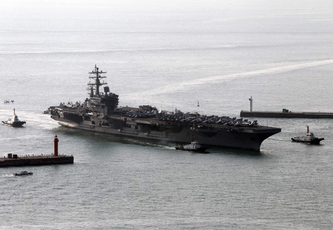 Despliega EU portaaviones nuclear cerca de península de Corea