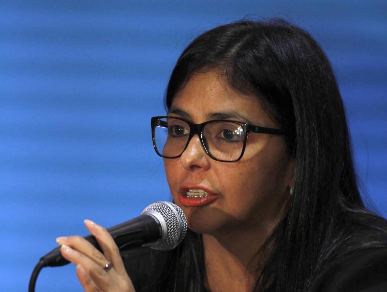 Infantil, respuesta de México sobre agresiones en Venezuela: Delcy Rodríguez