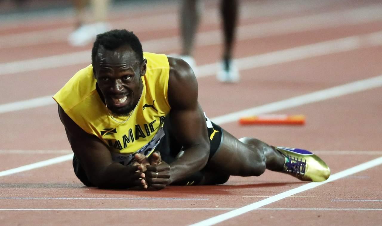 Trágica despedida de Usain Bolt; se lesiona en su adiós
