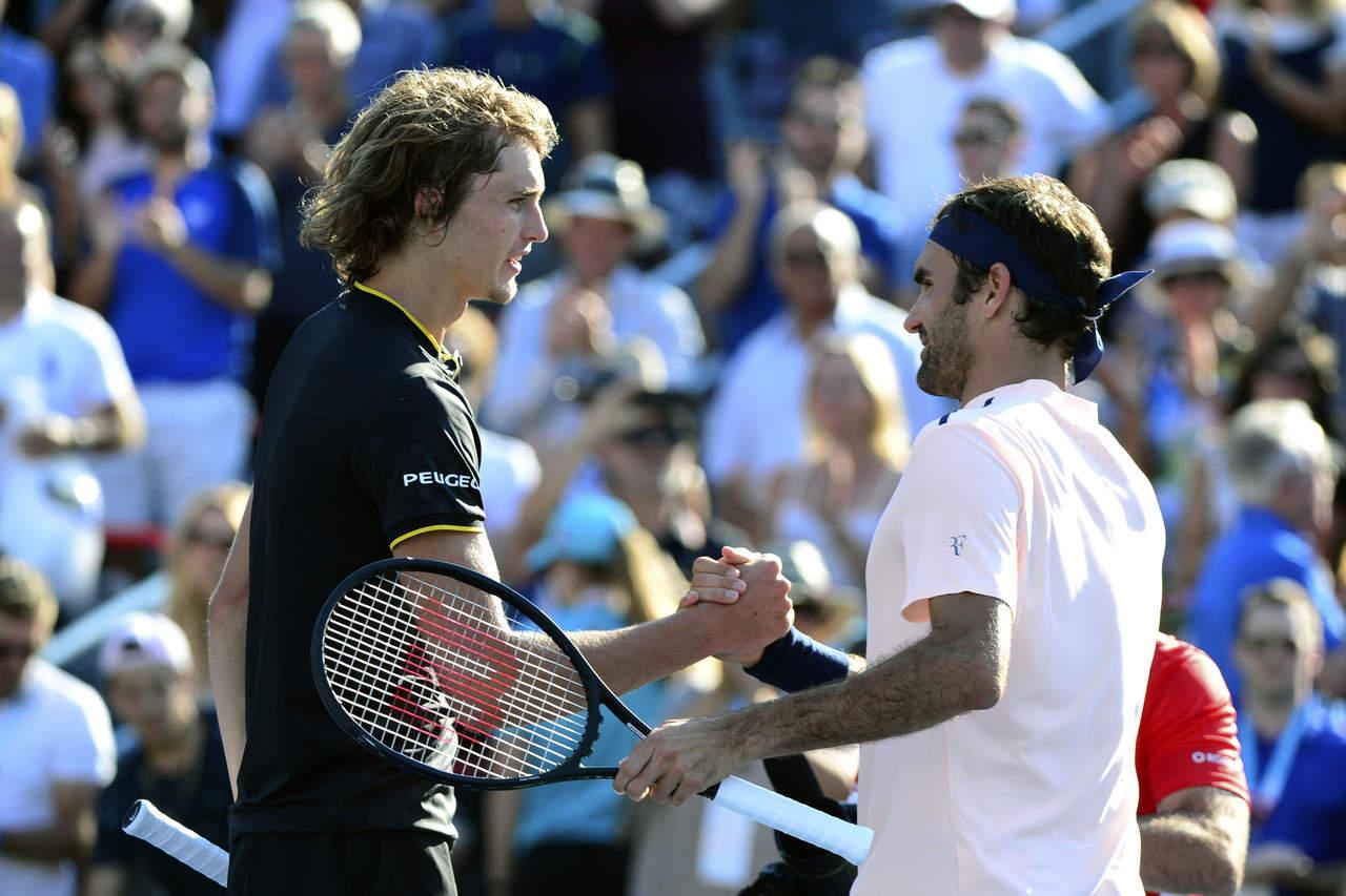 Federer pierde ante Zverev en la final de Montreal