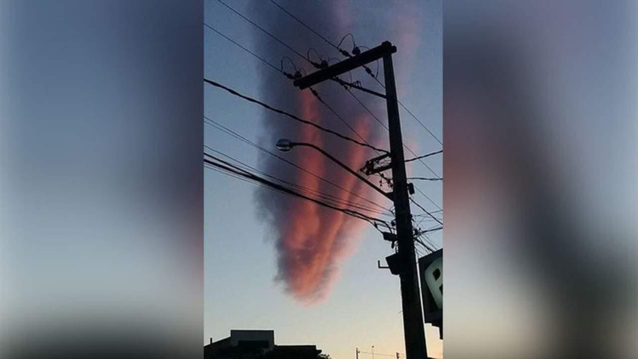 Inusual nube sorprende a Brasil