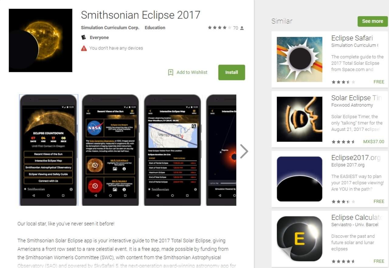 Apps para seguir el eclipse solar