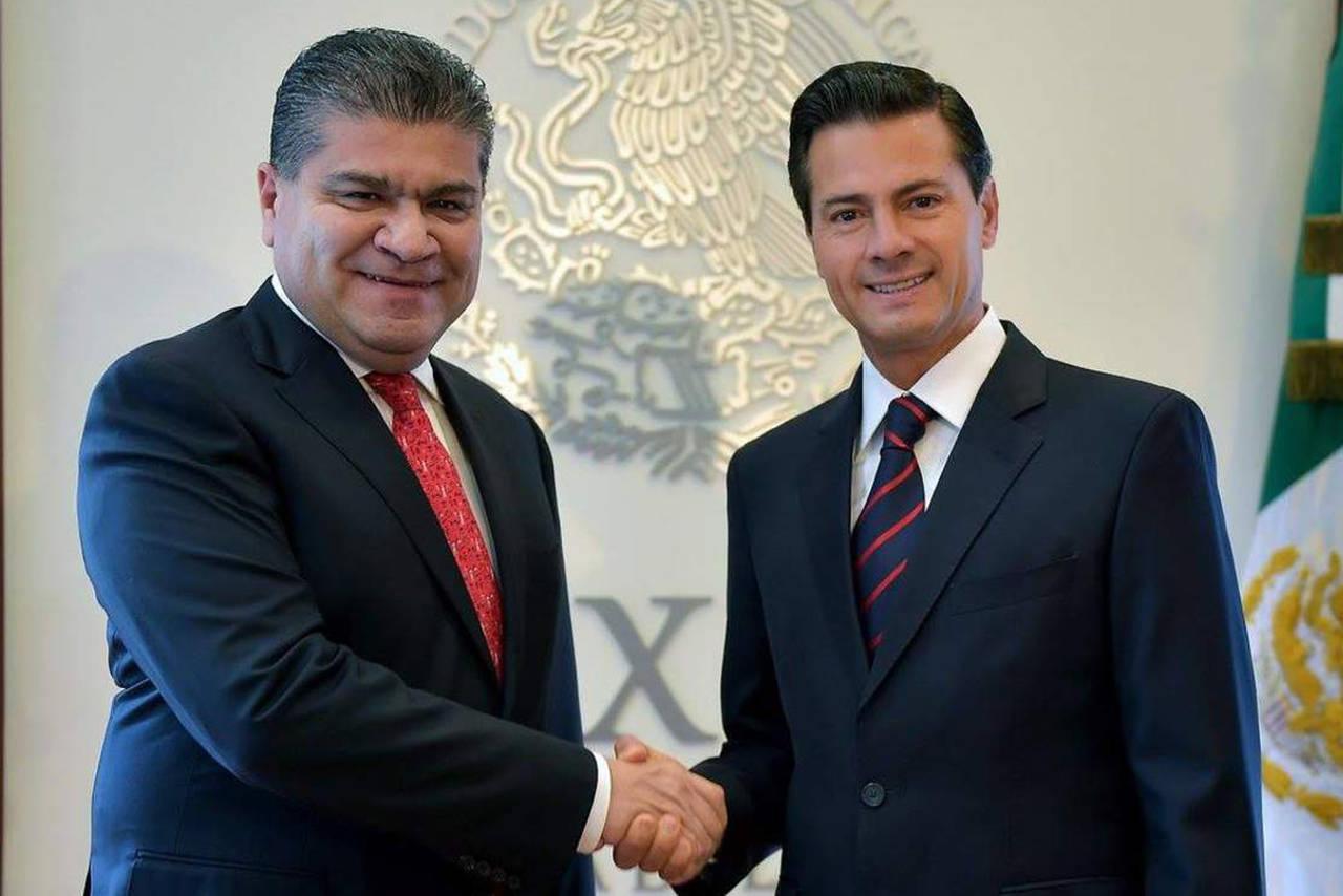 Peña Nieto recibe a Riquelme en Los Pinos