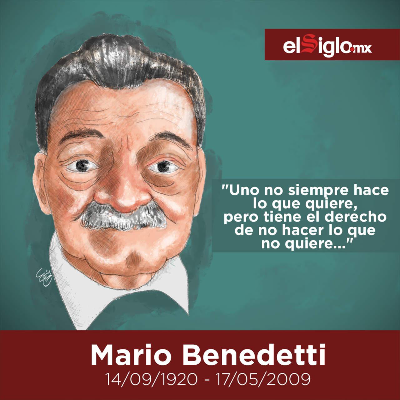 1920: Nace Mario Benedetti, reconocido poeta, novelista, dramaturgo, cuentista y crítico