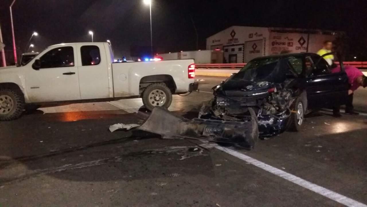 Accidente en la Torreón-Matamoros deja dos lesionados