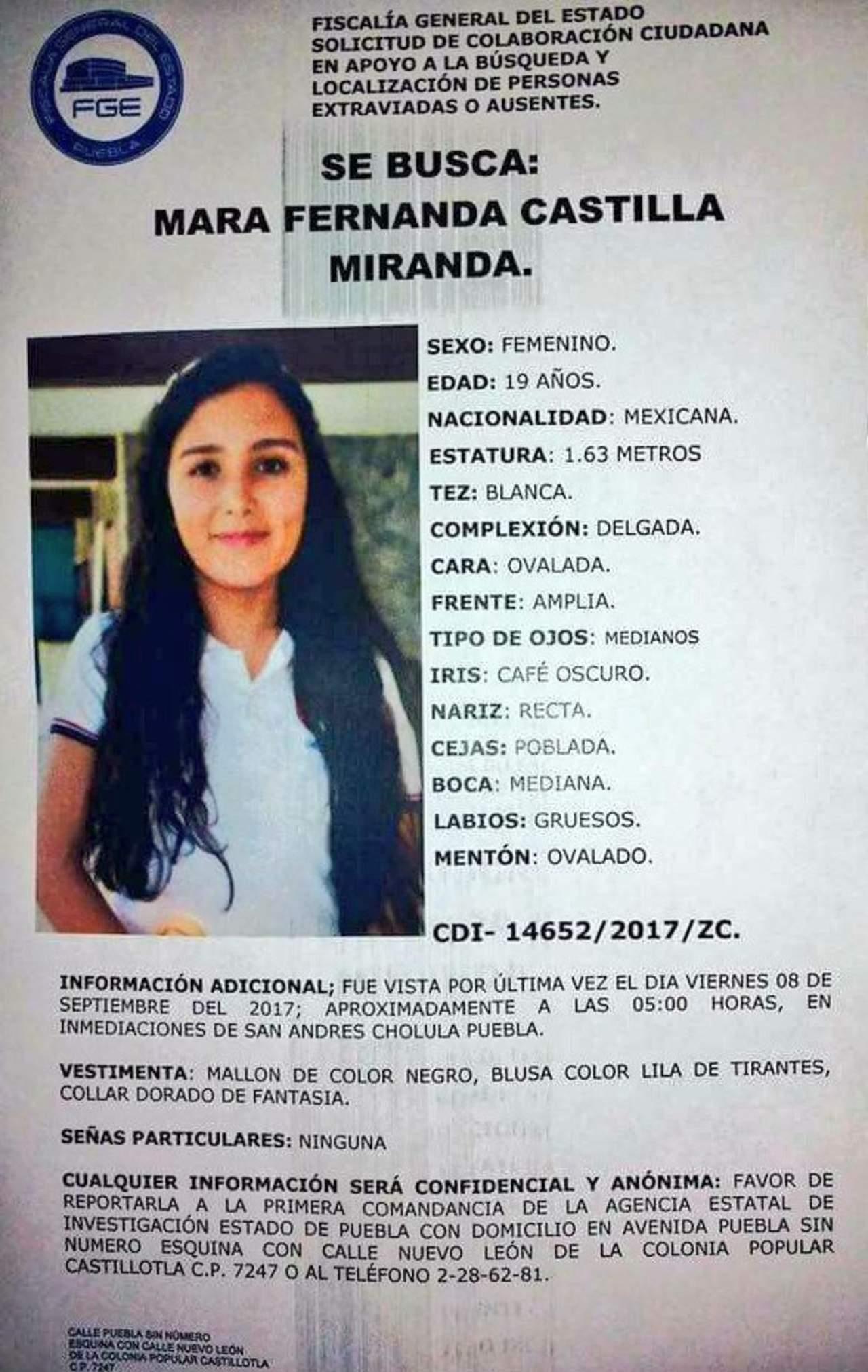 Mara Fernanda fue violada y luego estrangulada: FGE