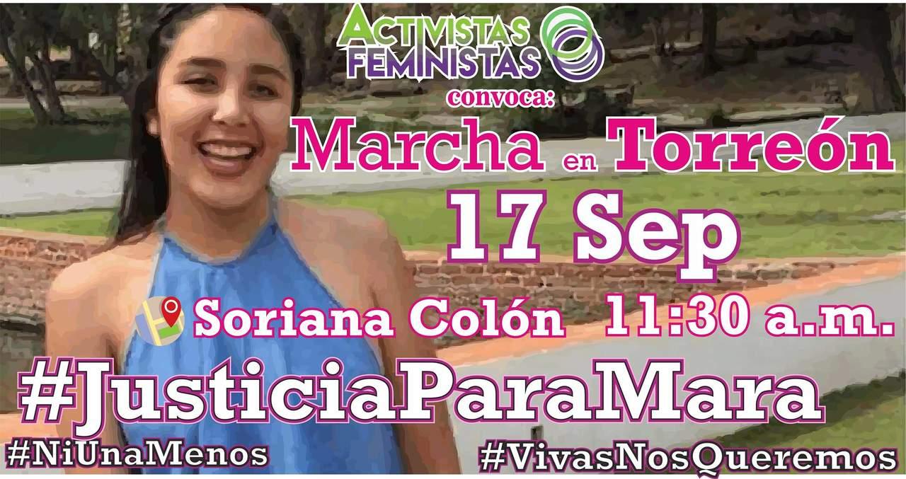 Convocan en Torreón a marcha por justicia para Mara Fernanda