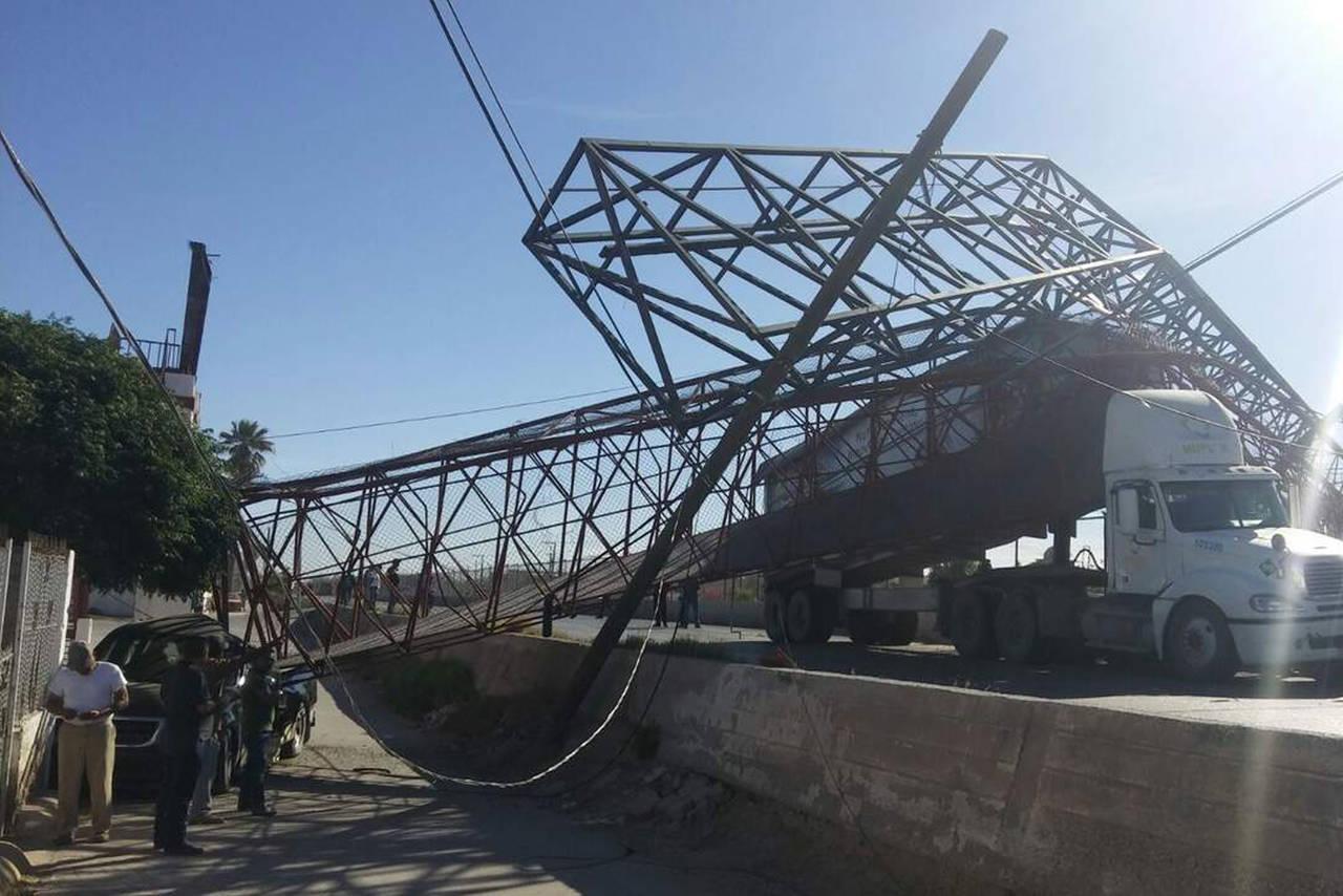 Nadie repone el puente peatonal