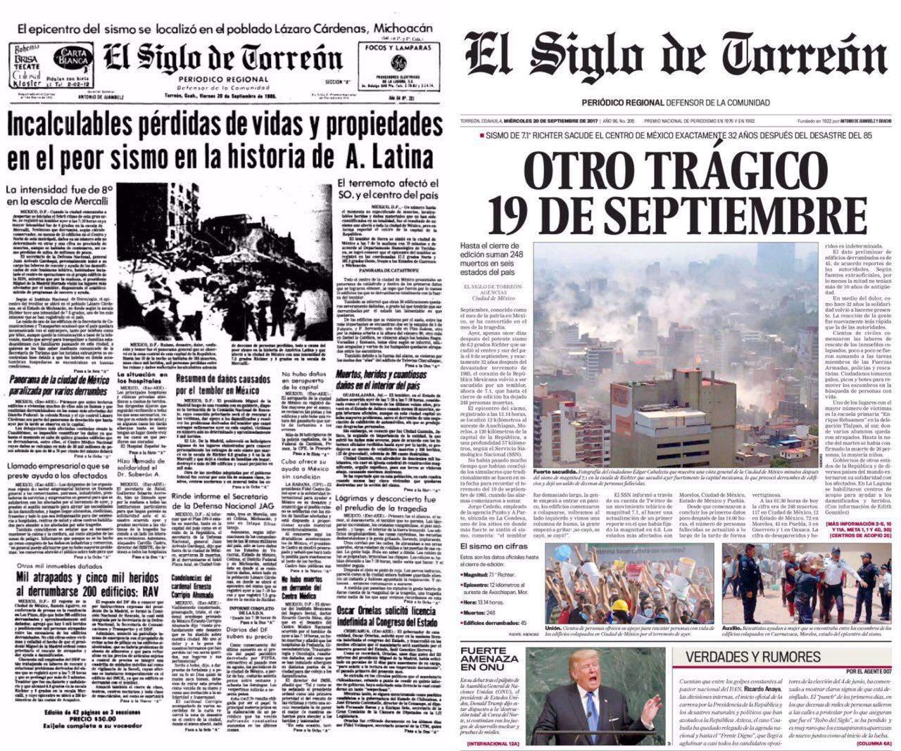 Otro trágico 19 de septiembre