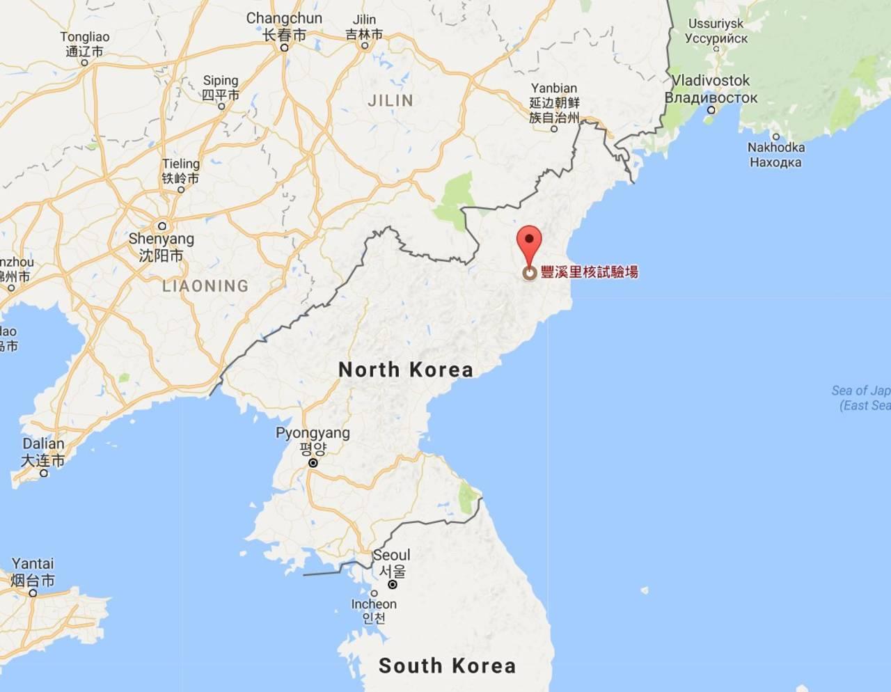 Un terremoto  sacude Norcorea