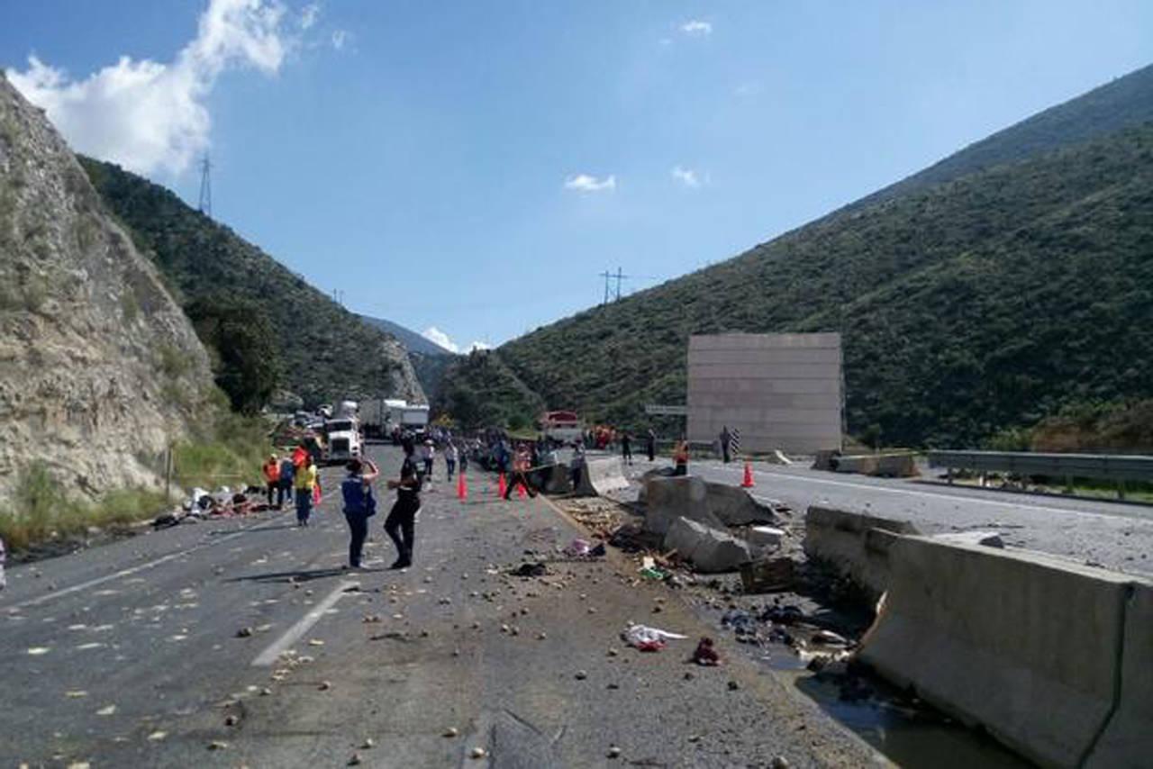 Accidente mortal en carretera 57; mueren cinco