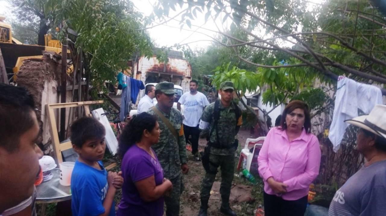 Reportan ocho viviendas afectadas en Lerdo