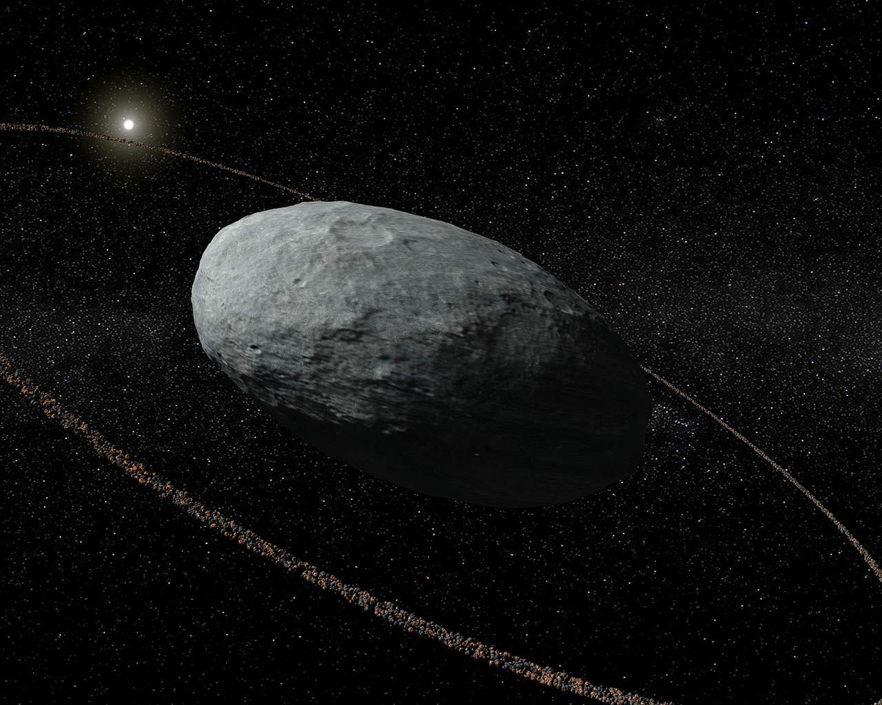 Planetas enanos también pueden tener un anillo a su alrededor