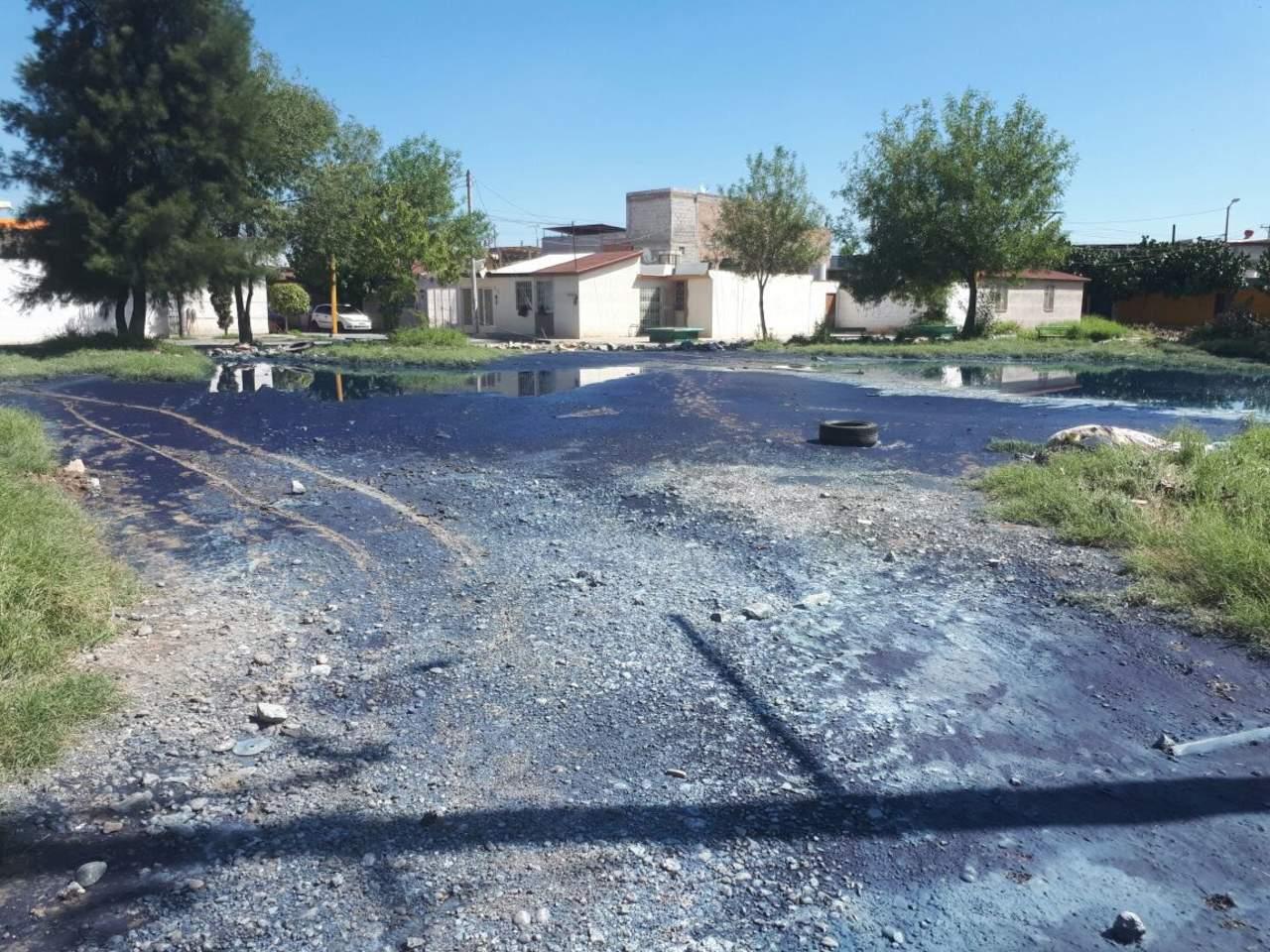 Empresarios y vecinos de Parque Industrial se quejan de agua azul