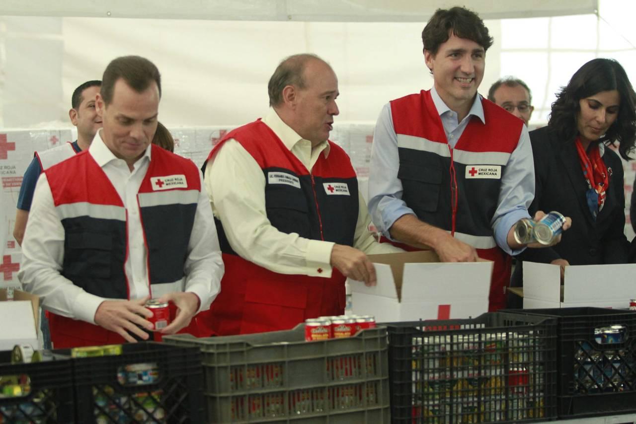 Trudeau monta despensas para damnificados