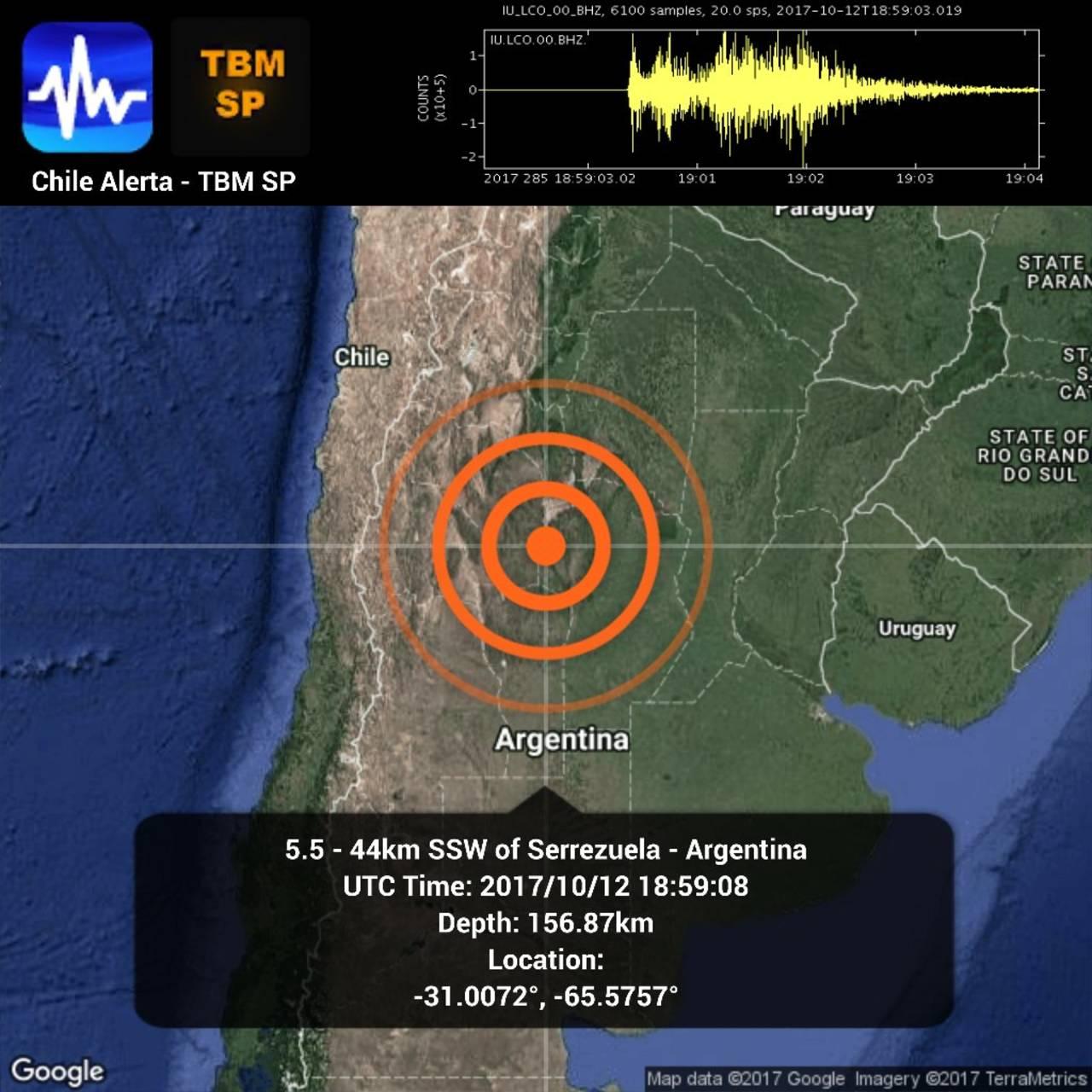 Un sismo sacude a Argentina
