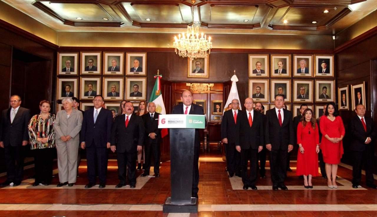 Rubén Moreira dirige mensaje por sexto Informe