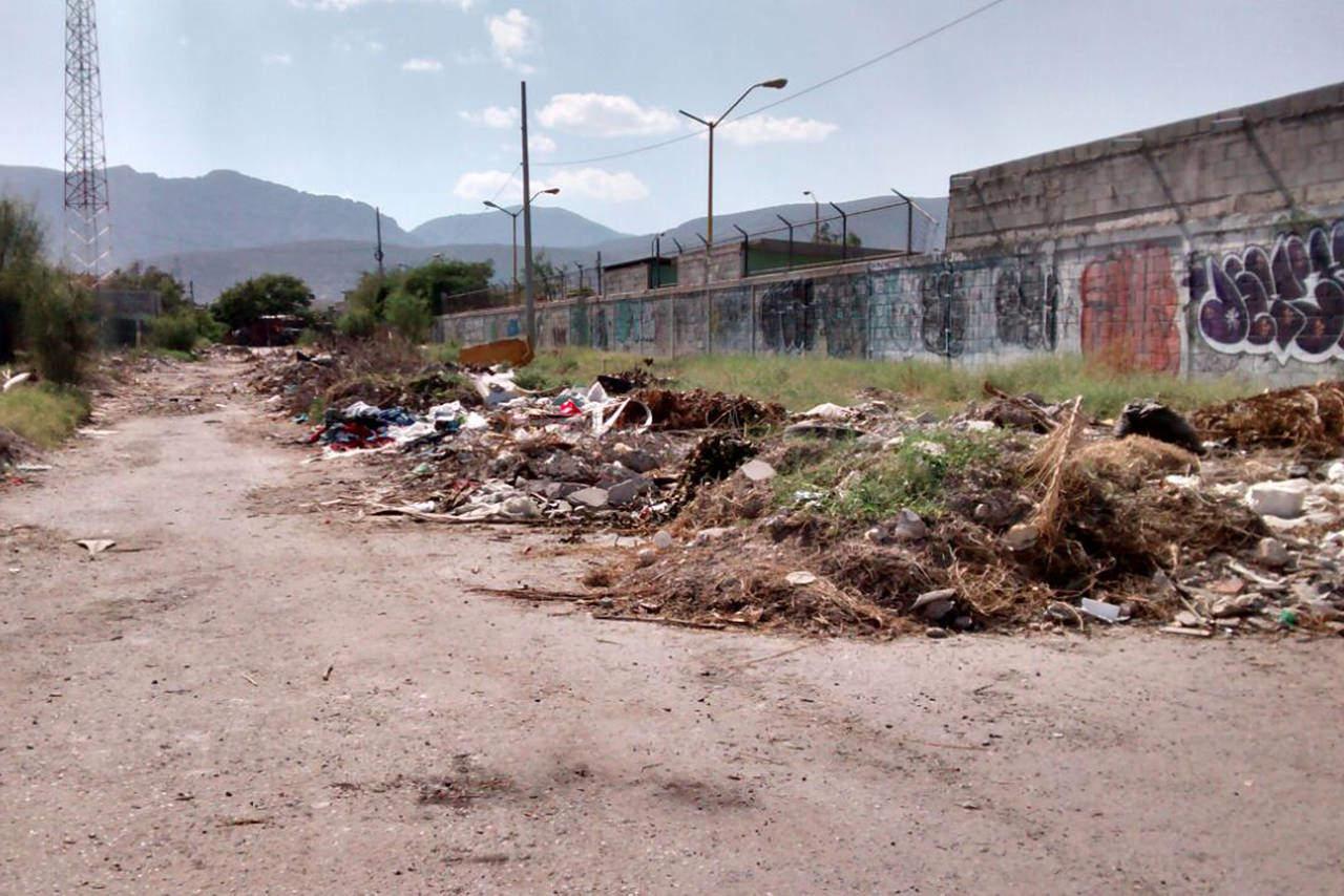 Tiran basura en la calle