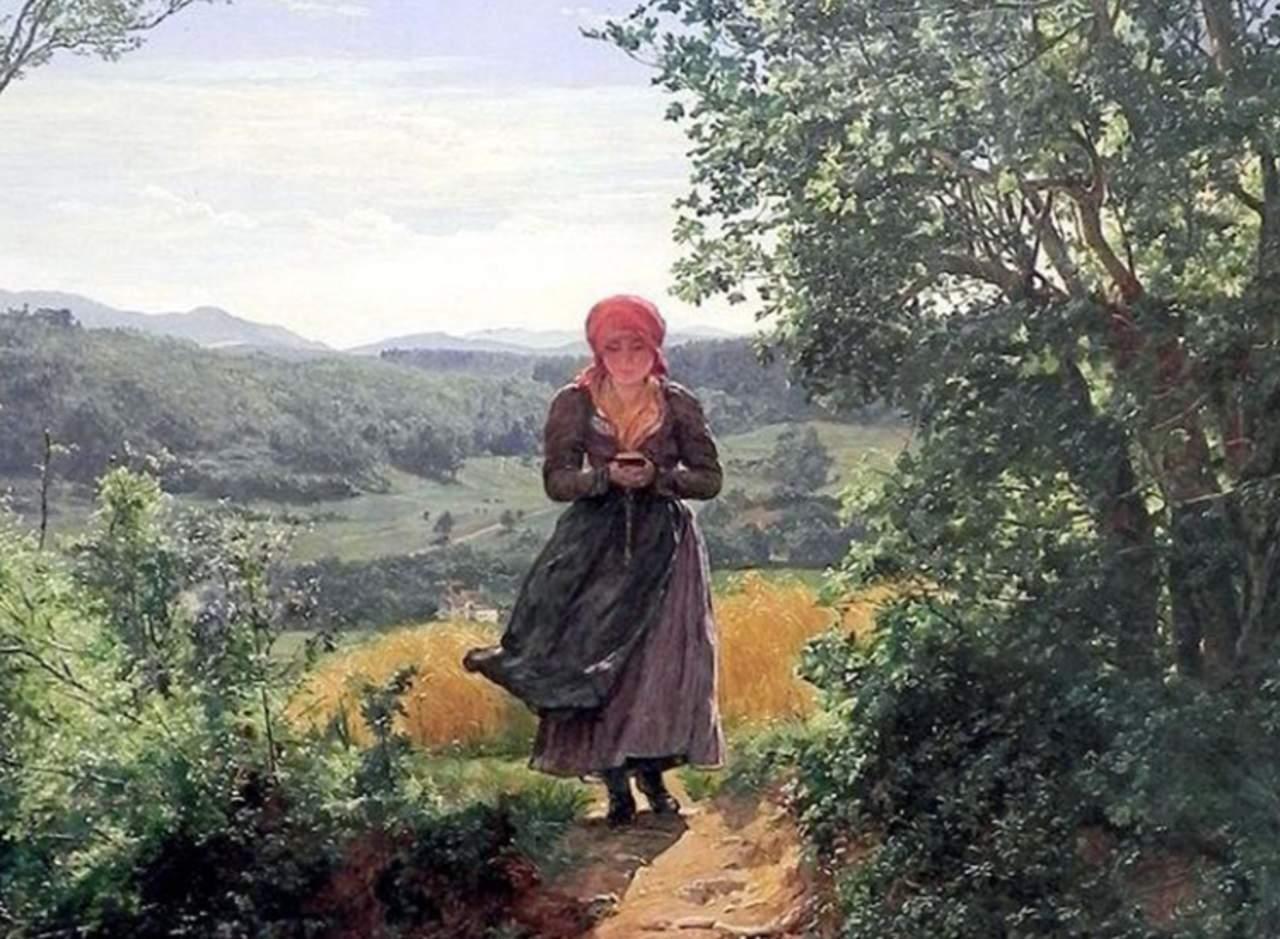 ¿Un celular en un cuadro de 1860?