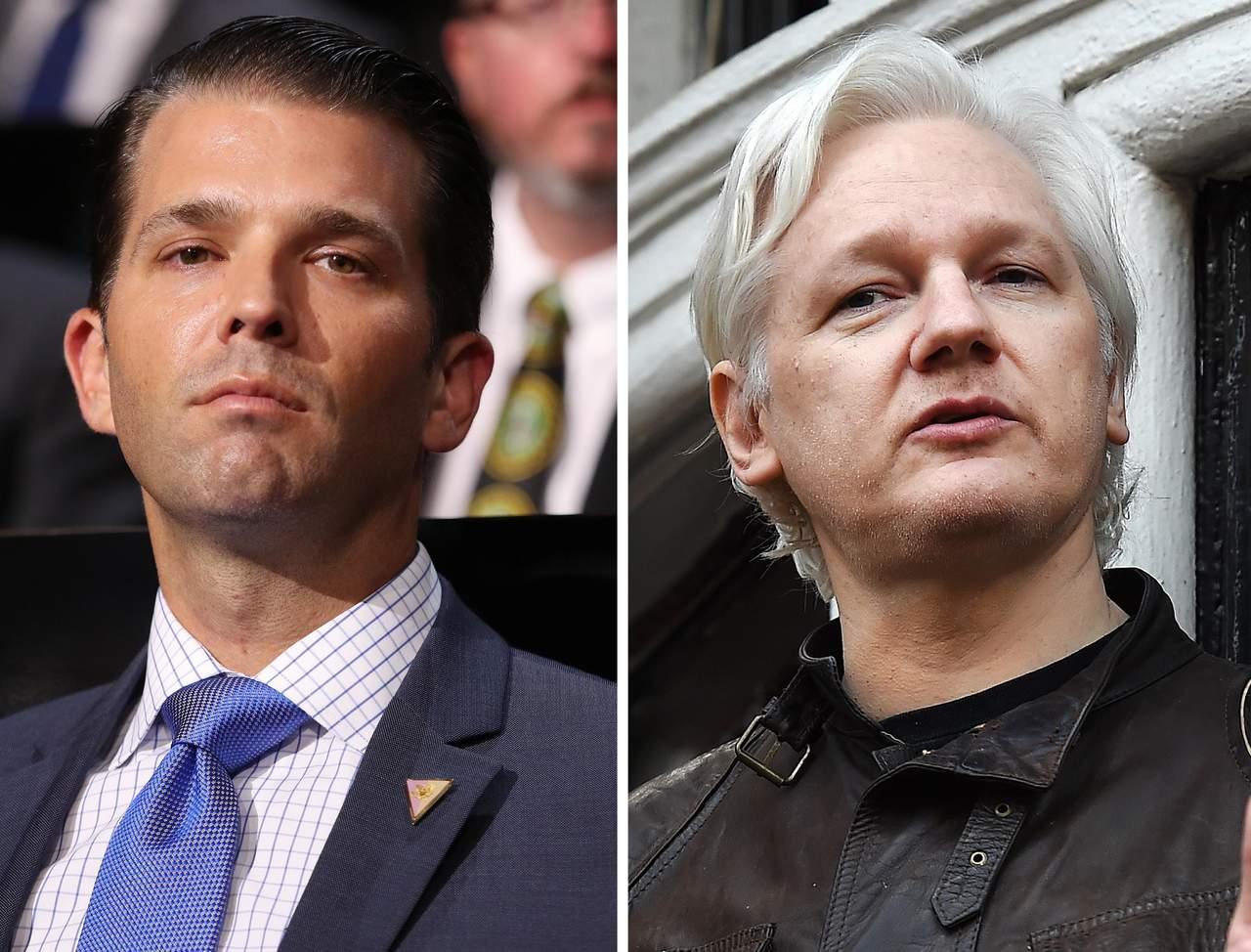 Hijo de Trump intercambió mensajes con WikiLeaks durante campaña