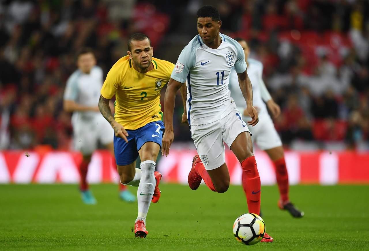 Inglaterra y Brasil igualan en amistoso