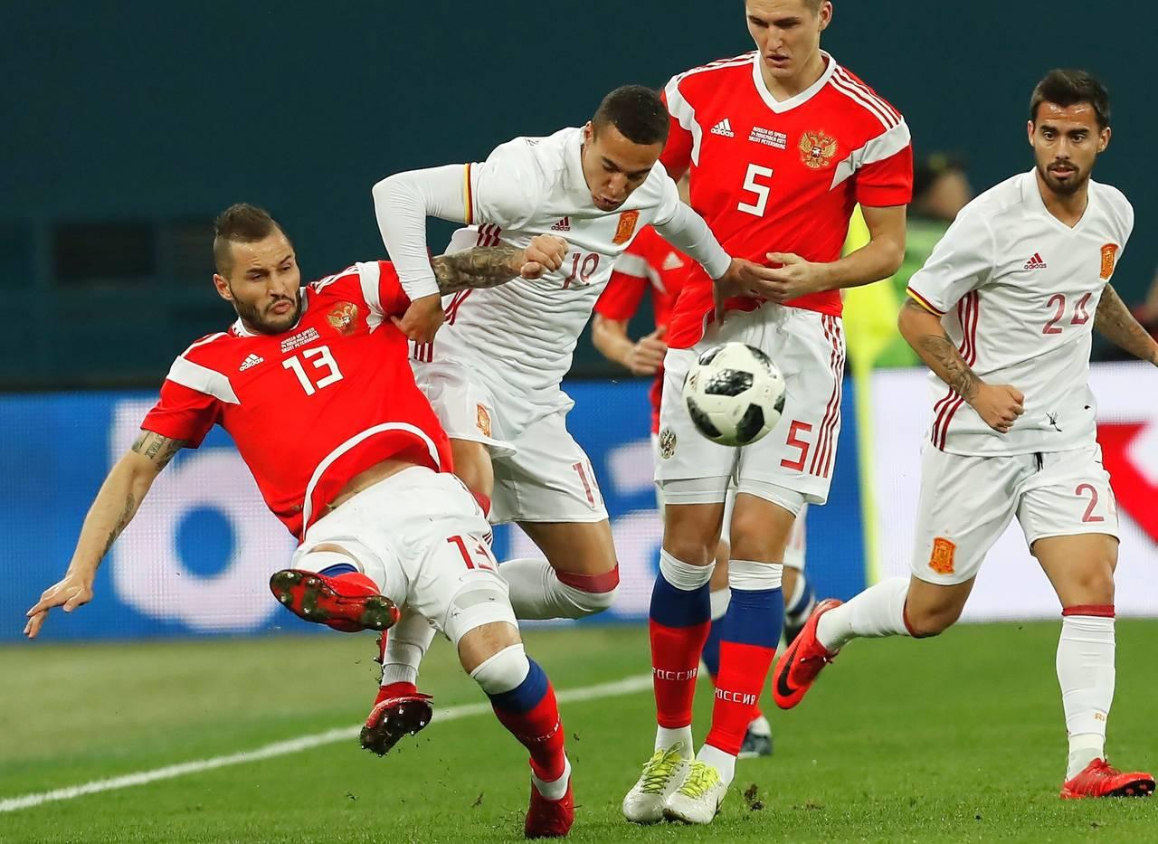 Feria de goles en el Rusia - España