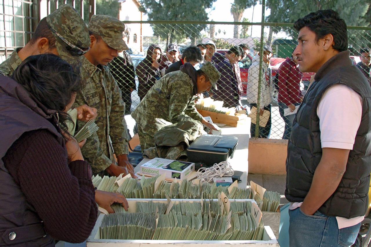 Cartilla militar se dará en diciembre