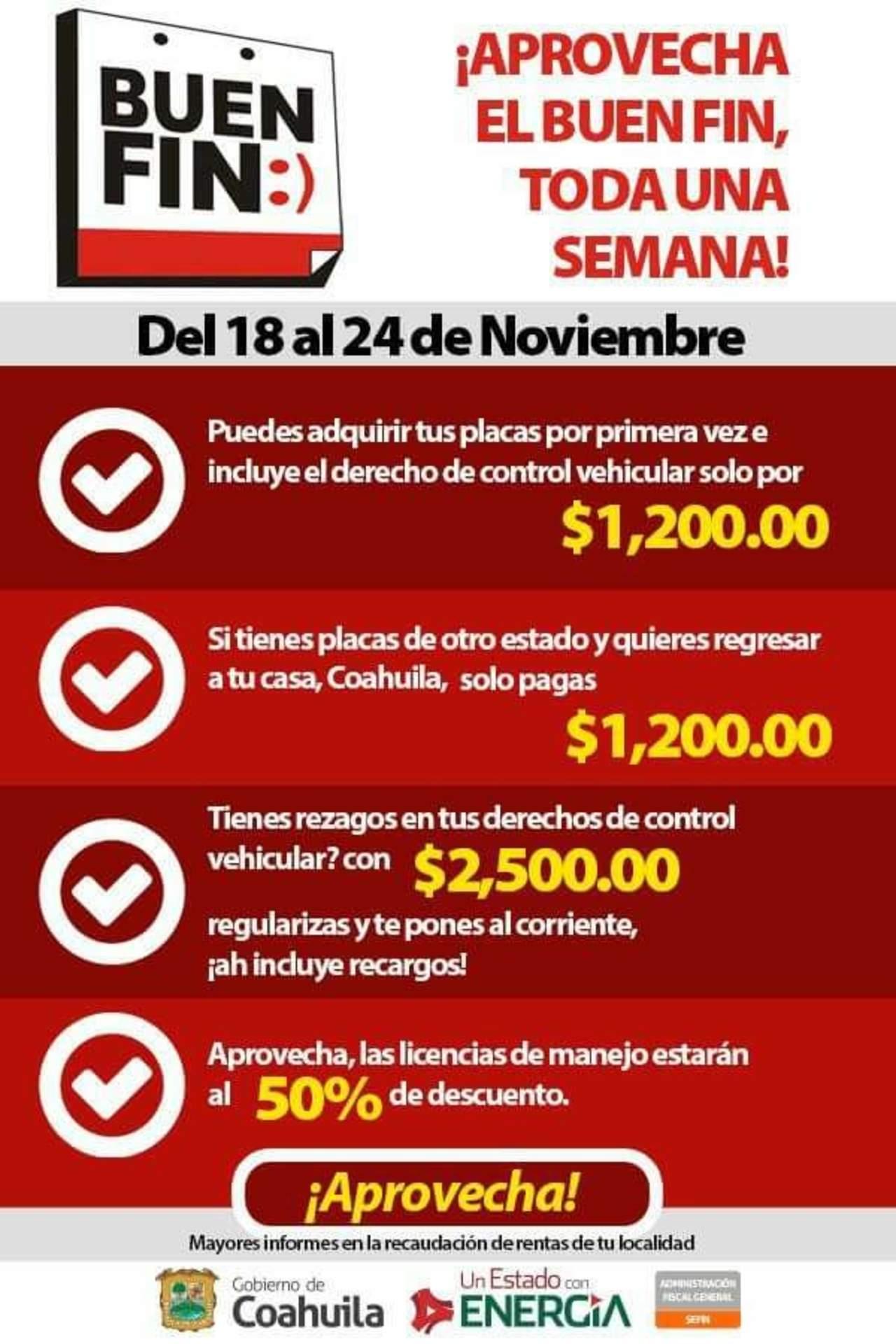 Gobierno de Coahuila se une al Buen Fin