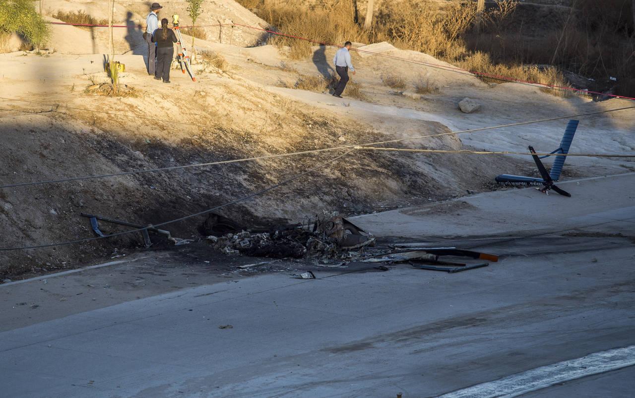 Se estrella helicóptero de la Policía de Tijuana, mueren dos