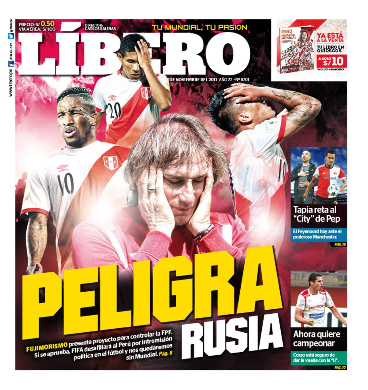 Perú podría quedar fuera del Mundial y calificar a Italia o Chile