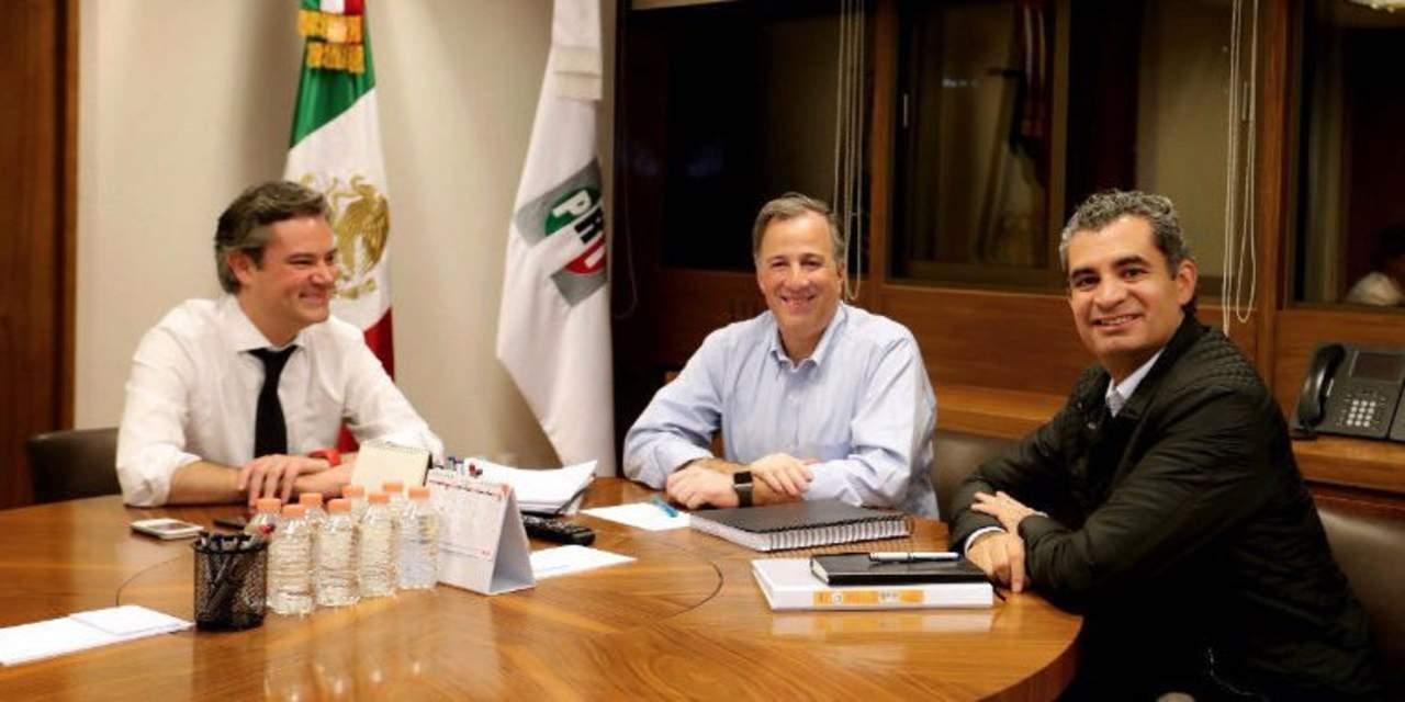 Nuño se reúne con Meade en sede nacional del PRI