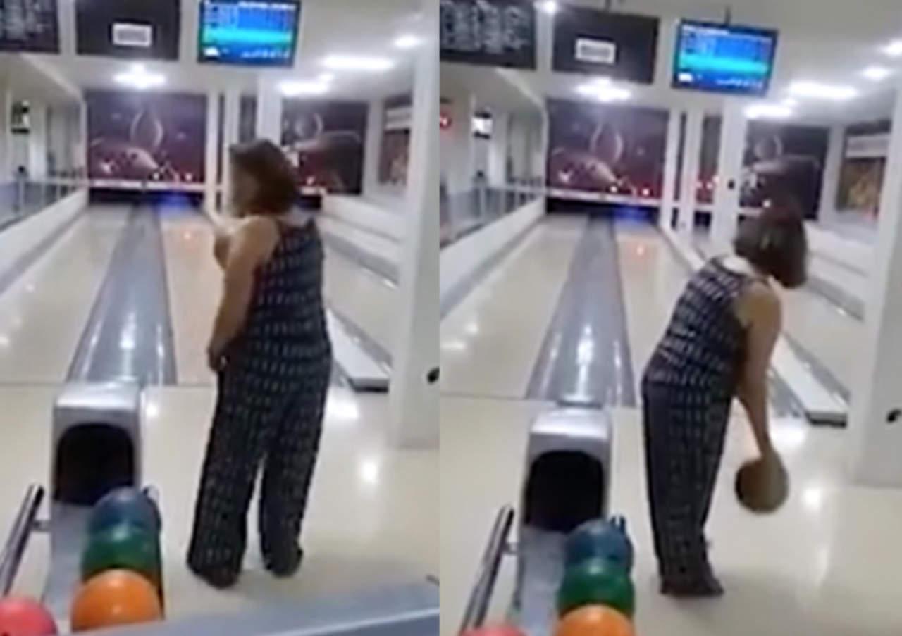 Su accidente jugando boliche se hace viral