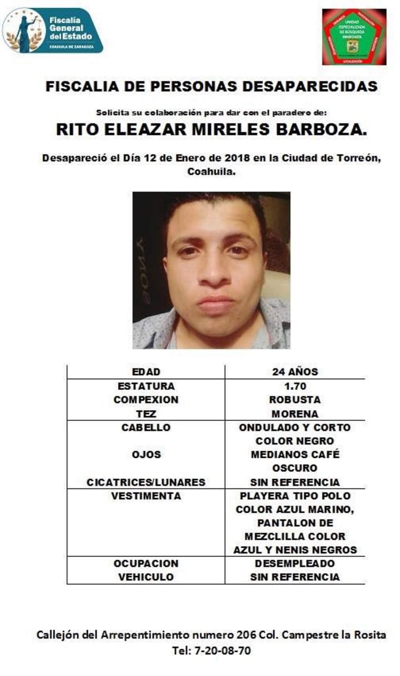 Piden apoyo para localizar a joven desaparecido