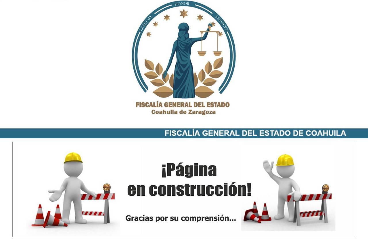 En construcción, página de la FGE