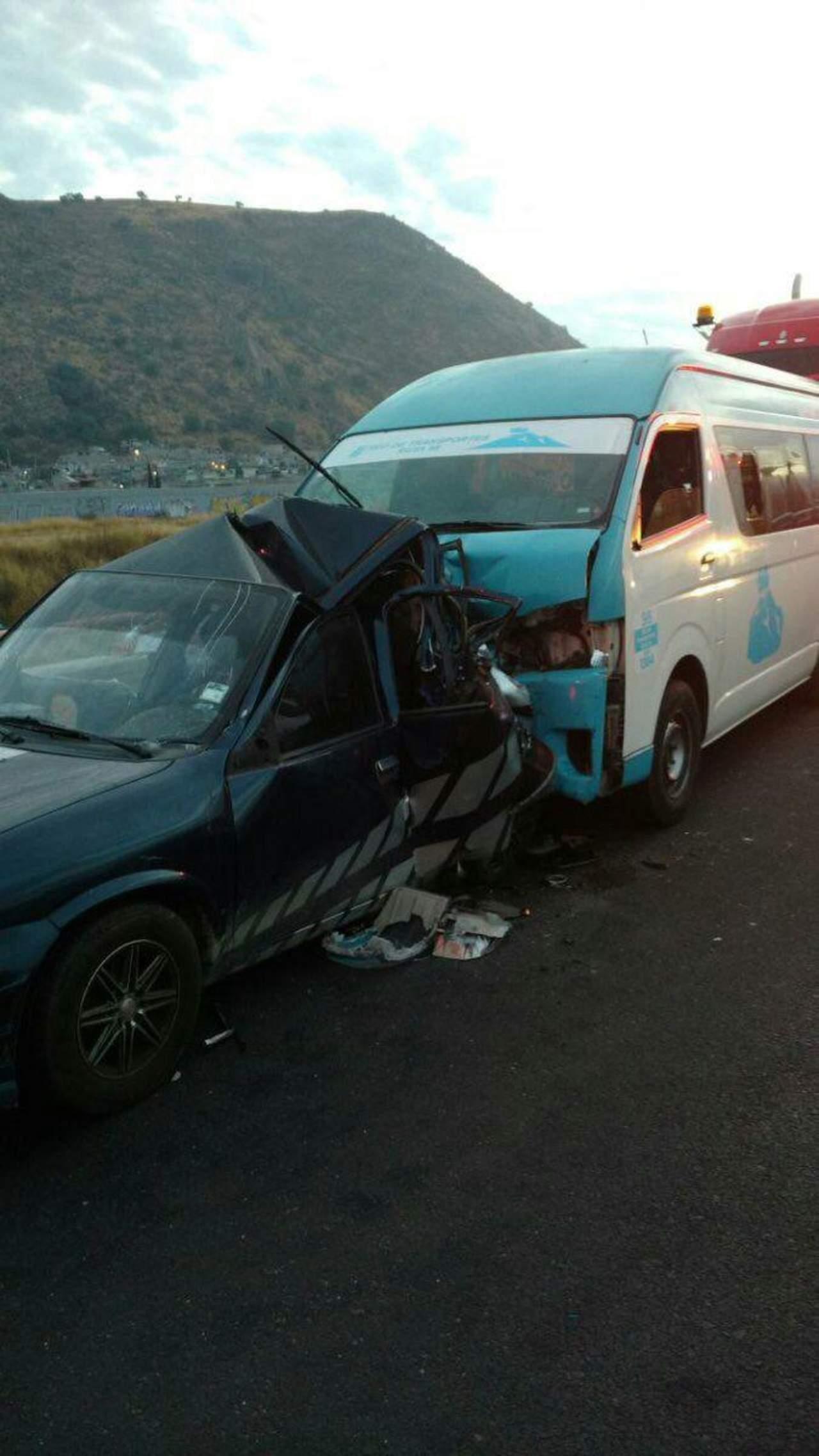 Choque deja dos muertos y seis heridos en autopista México-Puebla
