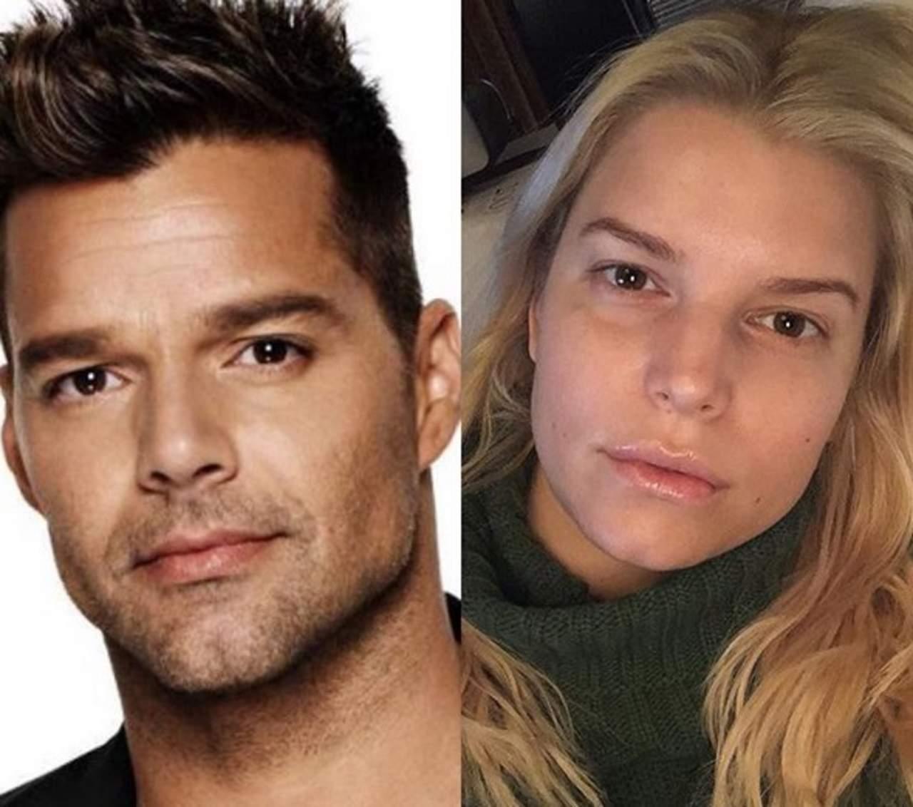 Jessica Simpson es señalada por su parecido a Ricky Martin