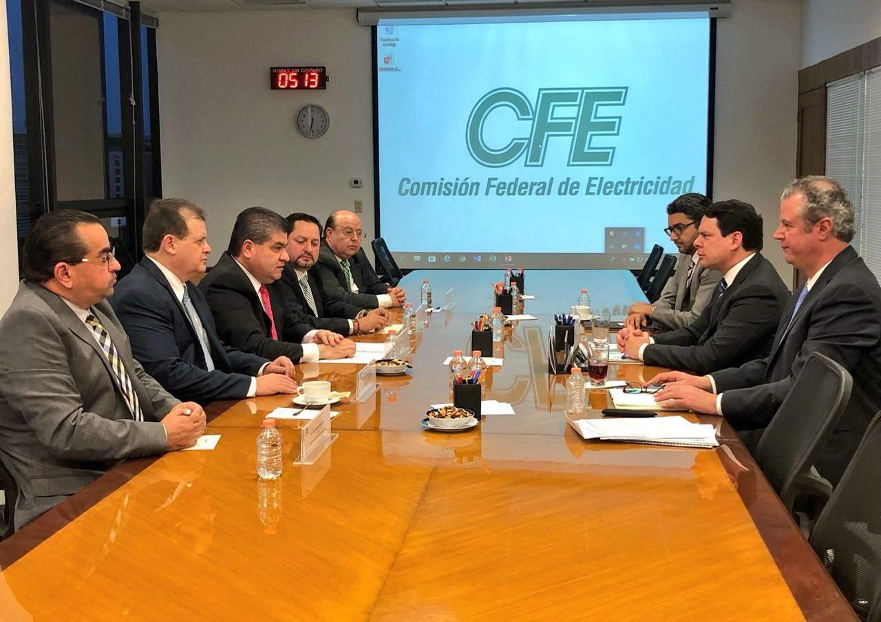 Participa Riquelme en reunión de CFE y UMPC (*)