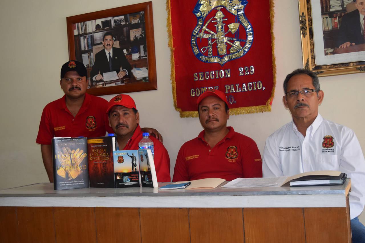 Dirigentes mineros apoyan a Gómez Urrutia