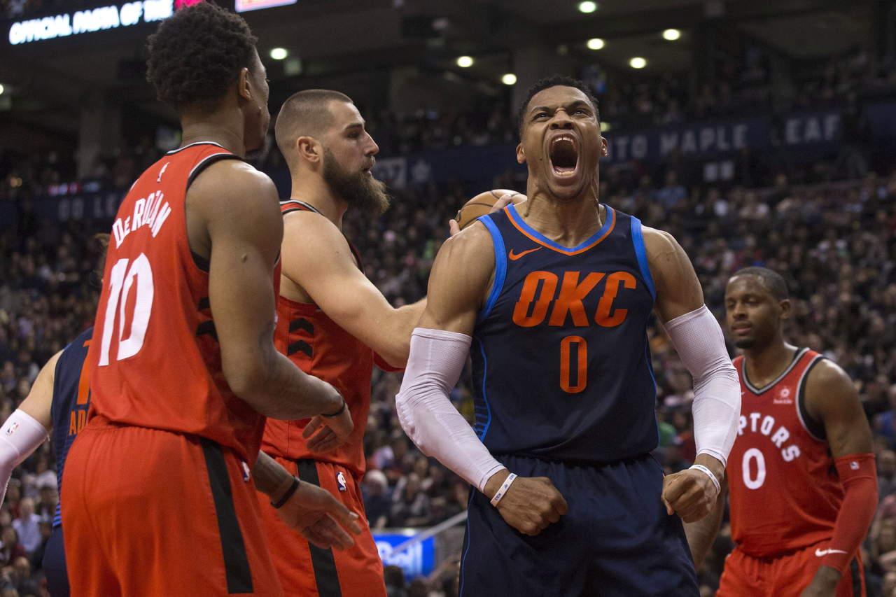 Westbrook y el Thunder frenan marcha de los Raptors