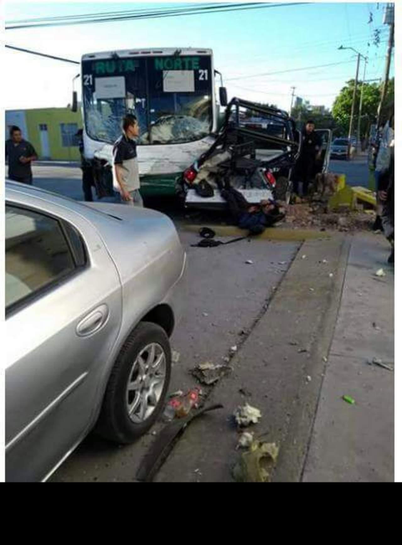 Seis policías quedan lesionados tras accidente en Torreón