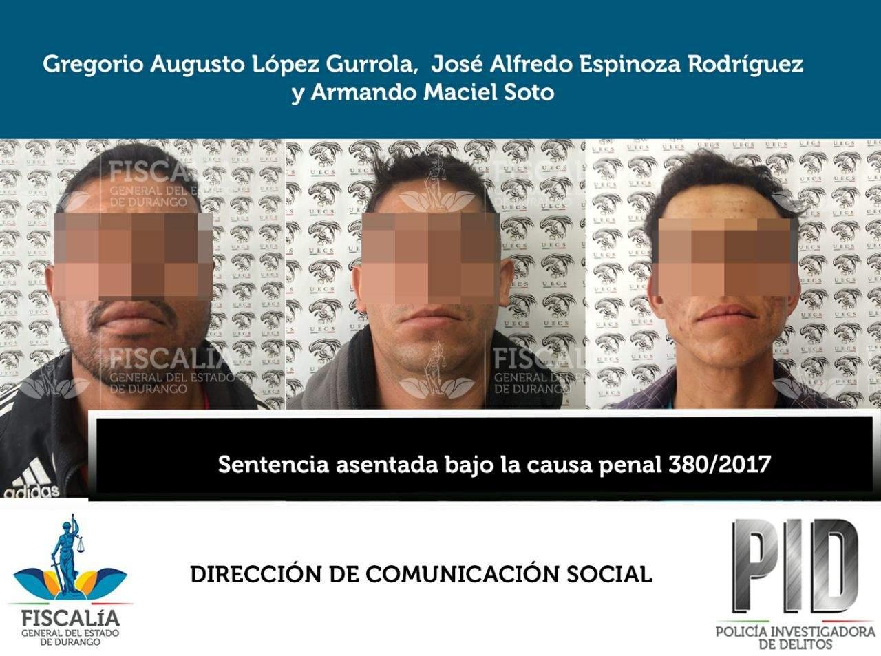 Sentencian a tres sujetos por secuestro cometido en Gómez Palacio